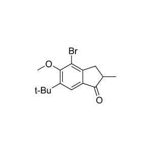 4-Bromo-6-tertbutyl-5-methoxy-2-methylindan-1-one