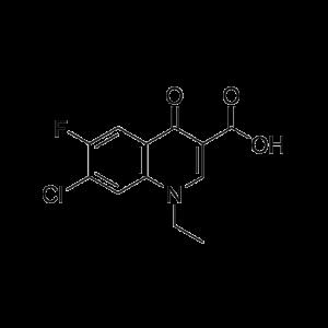 7-Chloro-1,4-dihydro-1-ethyl-6-fluoro-4-oxo-3-quinolinecarboxylic acid