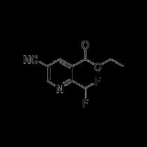 Ethyl 5-cyano-2-(difluoromethyl)-pyridine-3-carboxylate